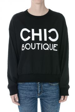 MOSCHINO BOUTIQUE Printed CHIC Sweatshirt