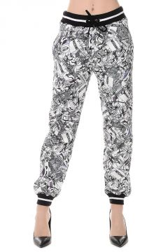 Cotton Blend Printed Pants