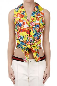 Floral Printed Sleeveless Top