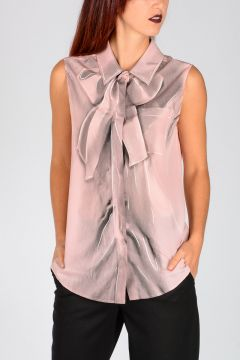 COUTURE! Bow Print Silk Blouse