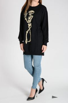 COUTURE!  Tunic Sweater Dress with Lurex Embroidery