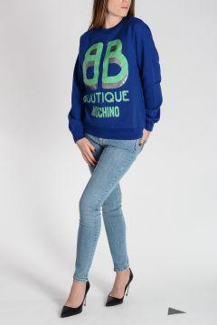 BOUTIQUE Logo Printed Cotton Sweatshirt