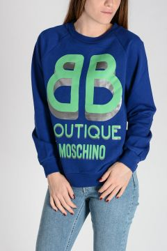 BOUTIQUE Logo Printed Cotton Sweatshirt