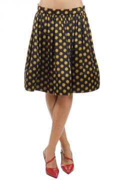 Skirt with Moschino Couture Button Print