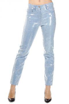 Pantalone in Cotone con Paillettes