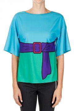BOUTIQUE MOSCHINO T-shirt con Cintura Stampata