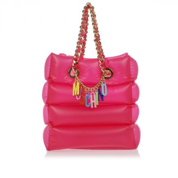 Shoulder Inflatable Bag With Chain Charm