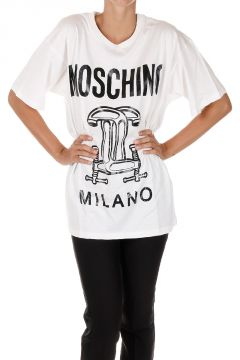 T-shirt in Jersey di cotone con Stampa