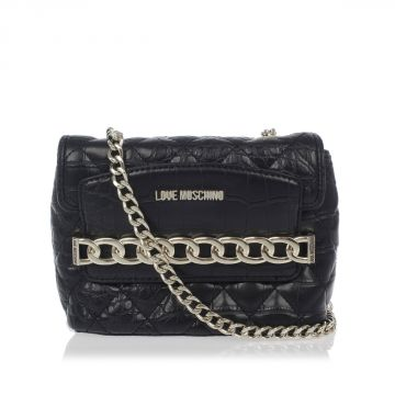 Crocodile Embossed Cross Body Bag