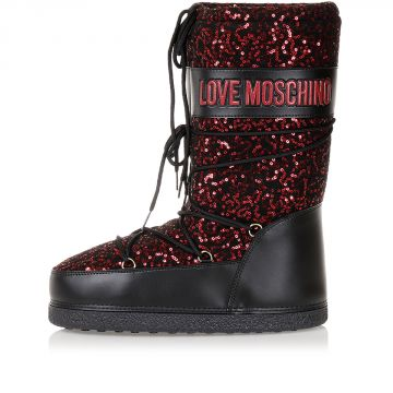 LOVE MOSCHINO Rain/Snow Boots with Sequins