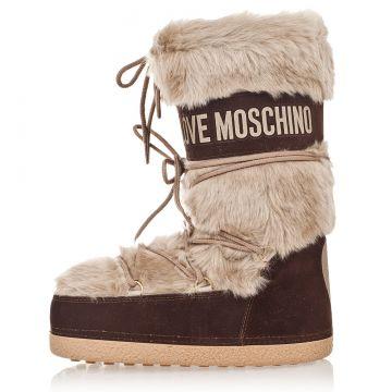 Stivali da Neve LOVE MOSCHINO con Eco-Pellicia Esterna