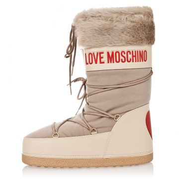 LOVE MOSCHINO Rain/Snow Boots with Fake Fur Details