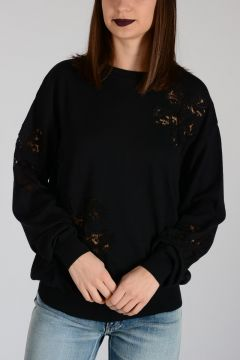 COUTURE Laced Virgin Wool Sweater