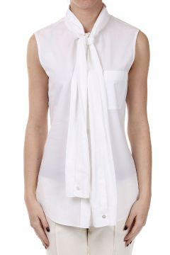 Sleeveless Shirt with Bow Fasten