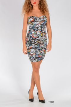 COUTURE! SODA Print Short Dress