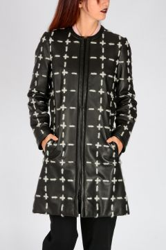 COUTURE! Padded Leather Coat