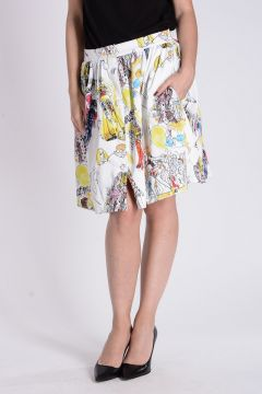 MOSCHINO COUTURE Flared Printed Skirt