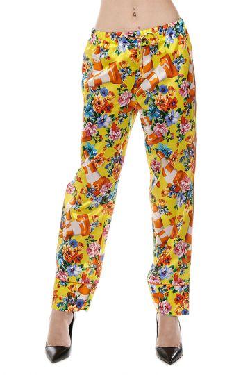 Pantalone in Cotone e Seta