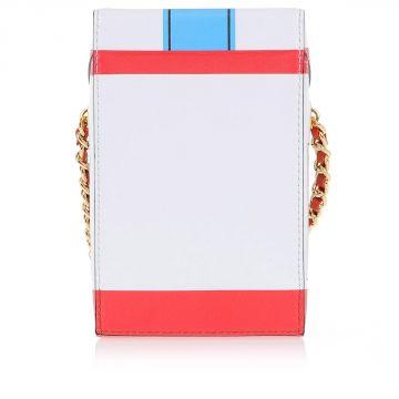 Mini Borsa Forma Pacchetto Sigarette In Pelle