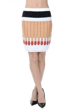 COUTURE - Virgin Wool Printed Mini Skirt