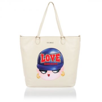 Borsa Shopping bag in Eco-pelle con Stampa