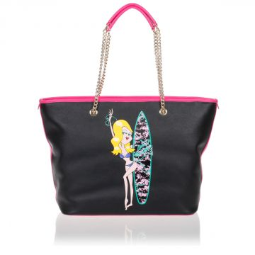 Borsa Shopping in PVC con Stampa