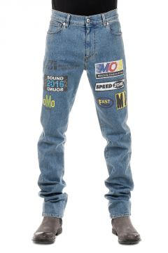Jeans in Denim Stretch Stampato 17 cm