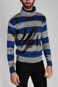 COUTURE! Striped Virgin Wool Sweater