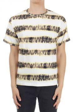 T-shirt a Fantasia a Righe