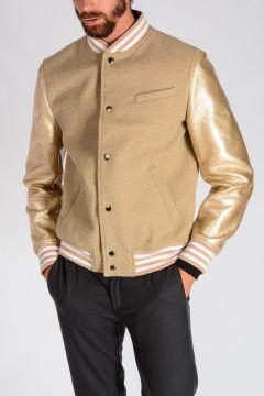 Wool Blend VARSITY Bomber Jacket