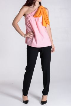 Stretch Cotton Blend Top