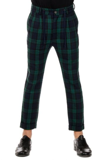 Pantalone FUTURE a Quadri in Misto Lana
