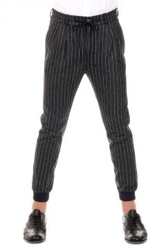 Striped Coulisse Pants
