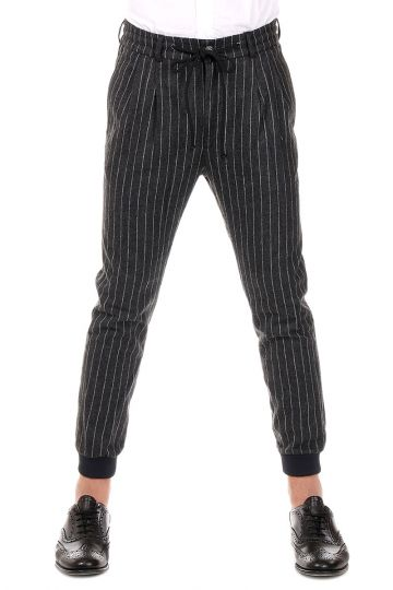 Pantalone a Righe con Coulisse