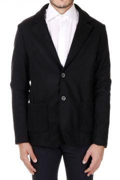 Single-Breasted Wollen Cloth Blazer Coat
