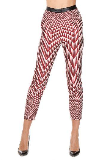 Pantaloni con Fantasia Geometrica