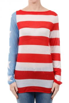 USA National Anthem Sweater in Cashmere and Silk