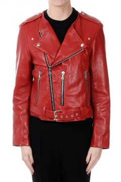 Leather Biker Jkt
