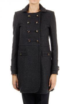 Cappotto doppio petto in misto lana