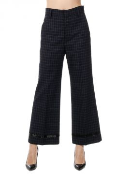 Checked wool Pants