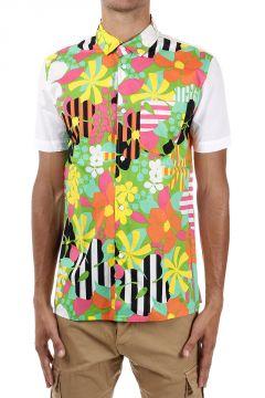 Camicia Maniche Corte fantasia floreale