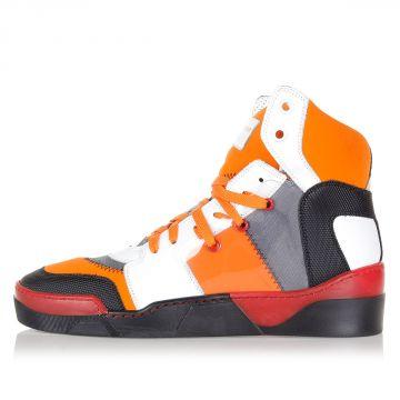 Sneakers Alte in Pelle e Tessuto