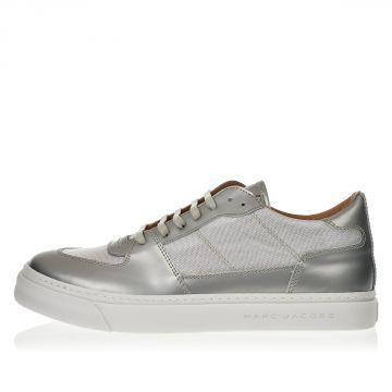 Sneakers in Pelle spazzolata e Tessuto