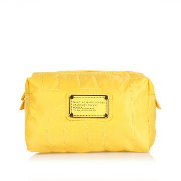 Logo Printed Fabric Cosmetic Bag