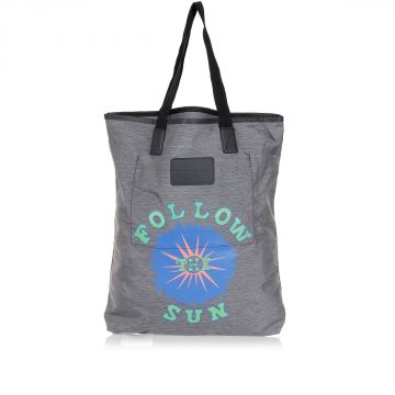 Borsa Shopping FOLLOW THE SUN in Tessuto Stampato