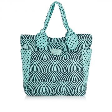 Fabric DUSTY JADE Shopping Bag