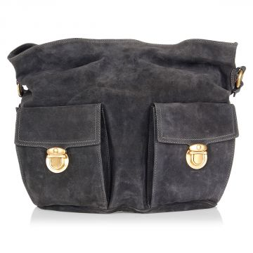 Leather Multipockets Shoulder Bag