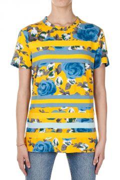 T-Shirt Multicolor con Stampa Floreale