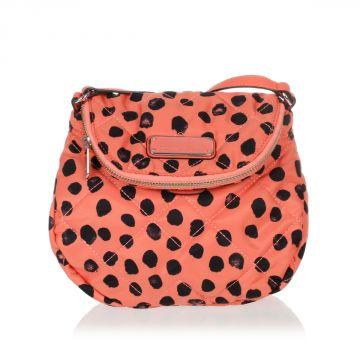 Polka Dots Printed Fabric Shoulder Bag