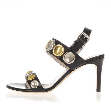 Sandalo in Pelle Tacco 7.5 cm